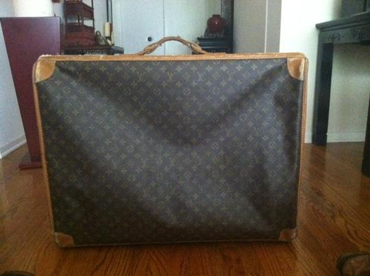 Louis Vuitton Vintage Leather Tote in Monogram Brown