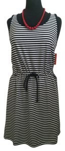 Joe Fresh short dress navy/white Cotton Striped on Tradesy