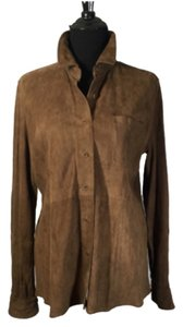 Façonnable Brown Leather Jacket