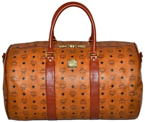MCM Modern Creation Munich Modern Creation Munchen Made In Germany Luggage Suitcase Hand Handbag Boston Duffle Duffel Brown Travel Bag