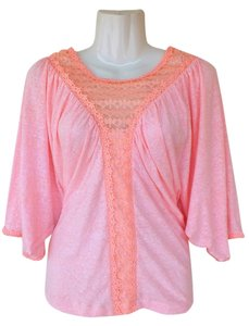 Victoria's Secret Crochet Lace Top pink