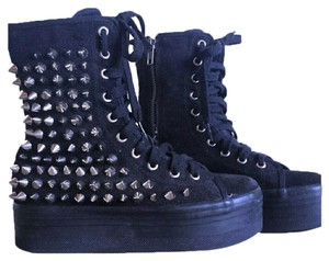 Jeffrey Campbell Spiked Flatforms Suede Boots