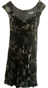 Nanette Lepore short dress Silver & Black Floral Velvet Embellished on Tradesy