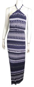 blue purple Maxi Dress by Cynthia Rowley Halter Maxi