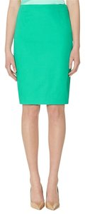 The Limited High Waisted Pencil Textured Skirt Green