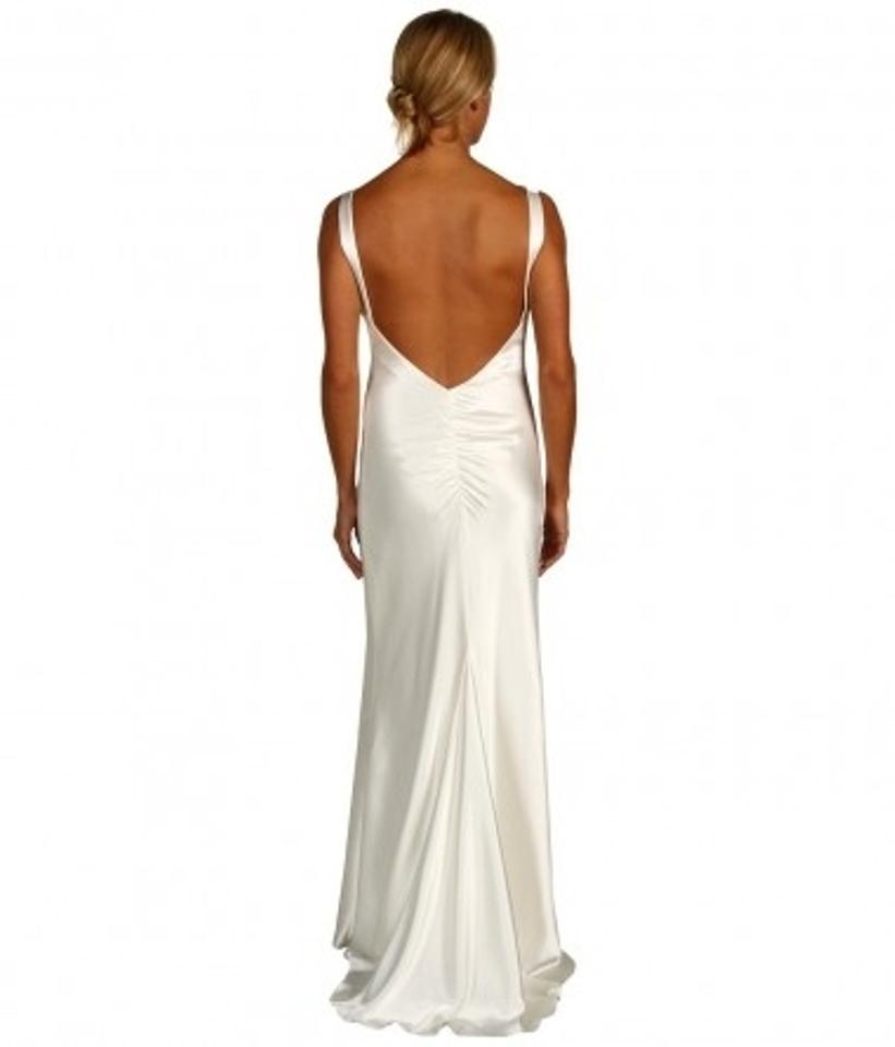Cowl Neck Wedding Dresses Whimsical: Ivory Satin A.b.s Allen Schwartz Cowl Neck Gown Wedding