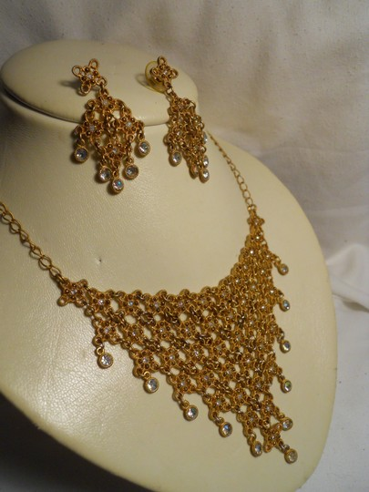 Other bib rhinestone necklace and earrings Image 1