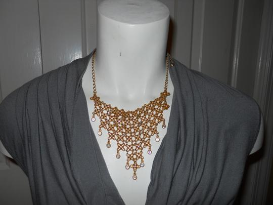 Other bib rhinestone necklace and earrings Image 11
