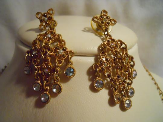Other bib rhinestone necklace and earrings Image 5