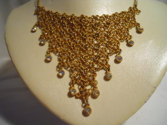 Other bib rhinestone necklace and earrings Image 6
