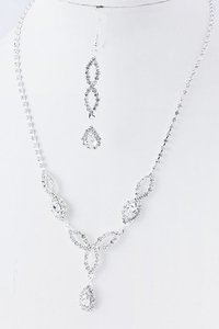 Clear/Other Rhinestone Bride/Bridesmaids / Earring Se Necklace