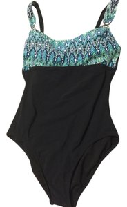 Patterned One-Piece Bathing Suit