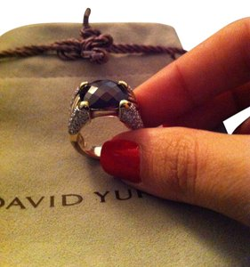 David Yurman David Yurman Garnet Stone Diamond Ring