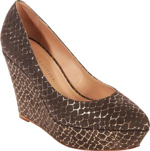 Loeffler Randall Smoke with gold detail Wedges