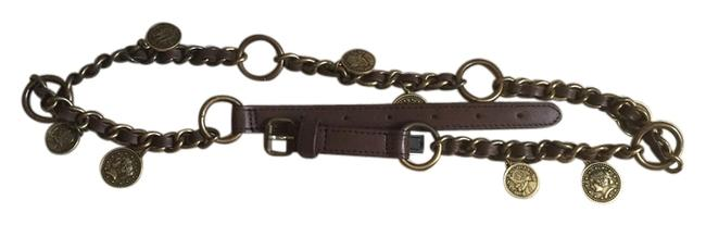 Item - Brown Chain with Coin Details Belt