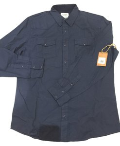PD&C Button Down Shirt Navy