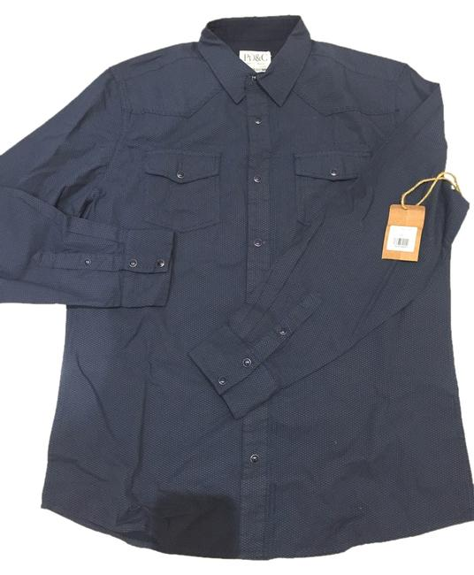 Preload https://img-static.tradesy.com/item/4966960/navy-mens-blue-button-down-top-size-12-l-0-0-650-650.jpg