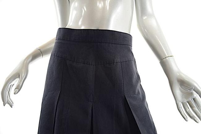 Sonia Rykiel Drop Pleat Linen Skirt Black