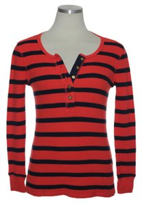 J.Crew Thermal Henley T Shirt Red