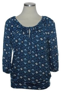 Joie 3/4 Sleeve Raglan Top Blue