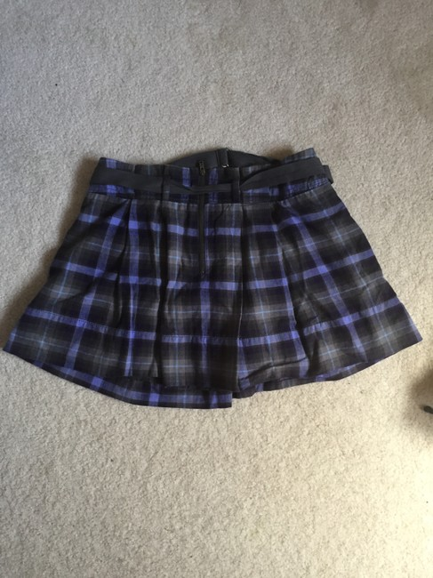 American Eagle Outfitters Mini Preppy Cute Trendy Mini Skirt Gray Image 1
