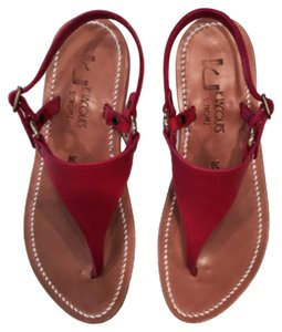 KJacques Hot Pink Dark Pink Sandals