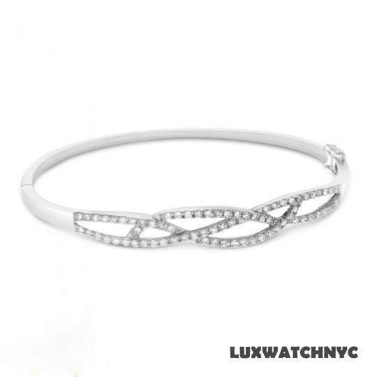 Other BRAND NEW, Ladies White Diamond Bangle Bracelet