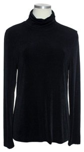 Chico's Turtleneck Stretch Knit Top Black