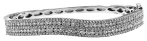 Ladies White Gold Diamond Bangle