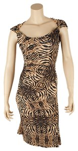 Roberto Cavalli Brown Dress