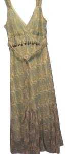 Jonathan Martin short dress light green with paisley print on Tradesy