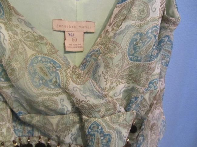 Jonathan Martin short dress light green with paisley print on Tradesy Image 2