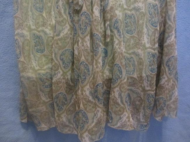 Jonathan Martin short dress light green with paisley print on Tradesy Image 3
