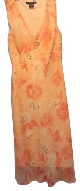 Faith Love Passion short dress peach with floral print on Tradesy