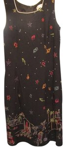 CDC Caren Desiree Company short dress black with beach print on Tradesy