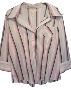 Antilia Femme Top white/pink with stripes