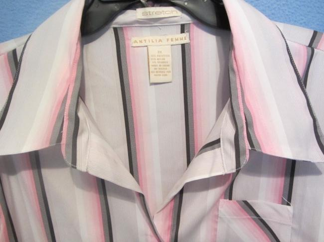 Antilia Femme Top white/pink with stripes Image 2