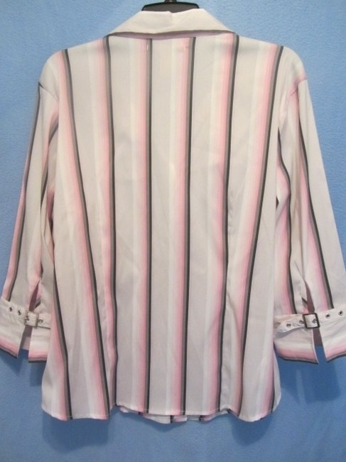 Antilia Femme Top white/pink with stripes Image 3