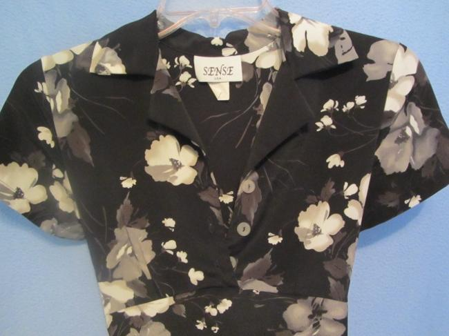 Other short dress black with floral print on Tradesy Image 1