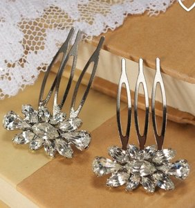 Small Crystal Hair Comb Crystal Hair Accessories Vintage Style Hairpiece Bridal Hair Pin Set Wedding Hair Accessories