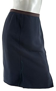 Prada Faille Doppio 1792 Skirt Navy