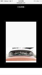 Kate Spade White 'just Married' Car Decal Other