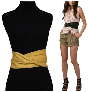 Karen Zambos Elegantly Waisted Twisted Leather Cummerbund