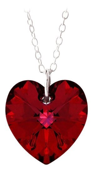 Preload https://item1.tradesy.com/images/other-925-silver-ruby-red-swarovski-elements-heart-necklace-18-4969300-0-0.jpg?width=440&height=440
