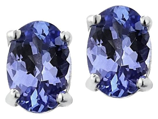 Other 925 Sterling Silver 1ct Tanzanite 6x4 Oval Stud Earrings