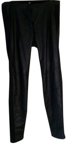 H&M Leather Faux Leather Skinny Pants black