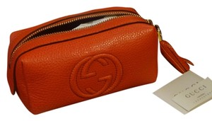 Gucci NEW with tags Gucci 308634 Leather Soho Tassel GG Cosmetic Makeup Bag Clutch
