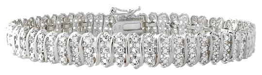 Other 1.00ct TDW Diamond S Link Tennis Bracelet