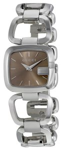 Gucci Brown Dial Silver tone Stainless Steel Designer Watch