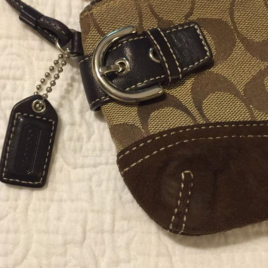Coach Handbags Logo Handbags Party Nite Out Wristlet in Brown